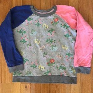 Hanna Andersson floral sweatshirt